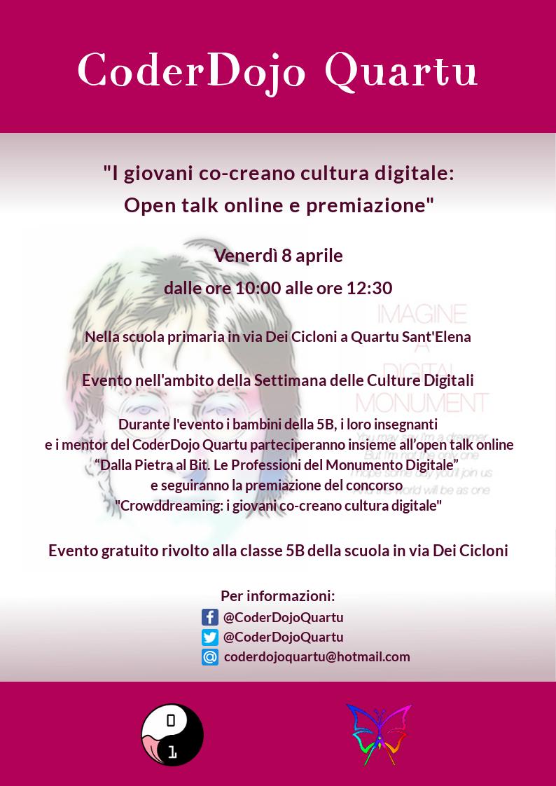 I giovani co-creano cultura digitale: Open talk online e premiazione