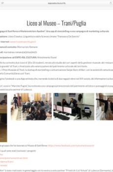 "Progetto ASL ""Liceo al museo"""