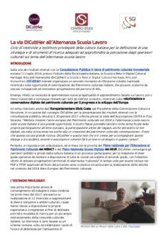 Prima pagina interviste ricerca ASL DiCultHer