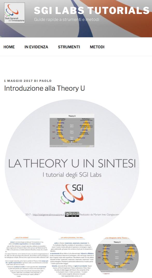 La Theory U in sintesi